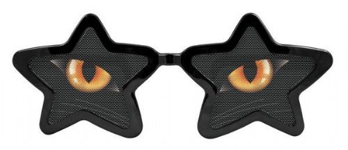Party Glasses Cats Eyes Starshape XXL Catwoman Villian Super Hero Superhero